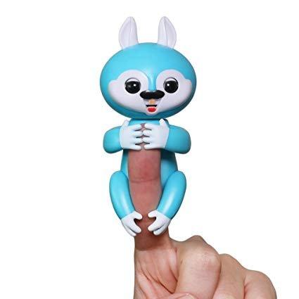 (Colisey Happy Interactive Finger Baby Squirrel, Finger Puppets, Interactive Baby pet (Light Blue))