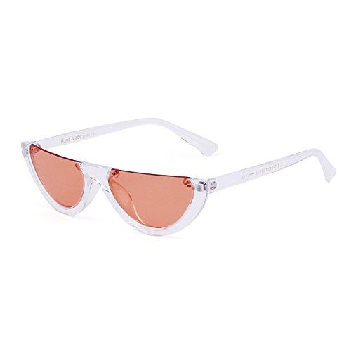 2b9a18cb0a ADEWU Gafas de sol Half Frame Gafas Eyewear Vintage Mod Retro Clout Gafas  Mujer Buena