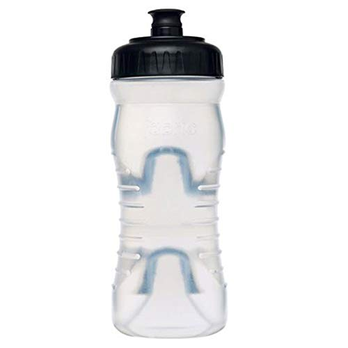- Fabric Cageless Water Bottle, 600ml, Clear/Black