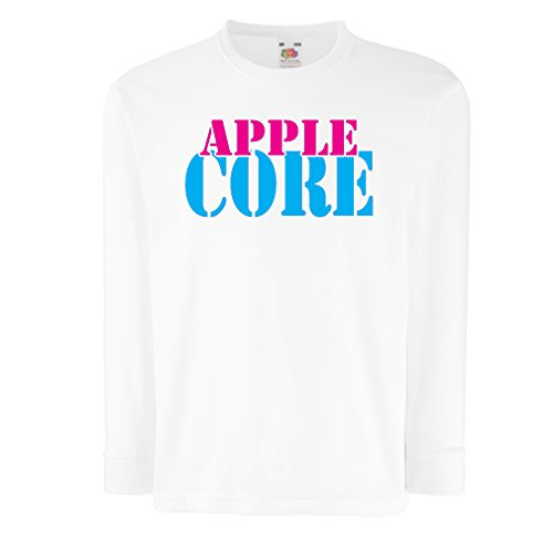 lepni.me T-Shirt For Kids Funny Apple Jokes - Cool Gadgets Fans Gifts (9-11 Years White Blue)