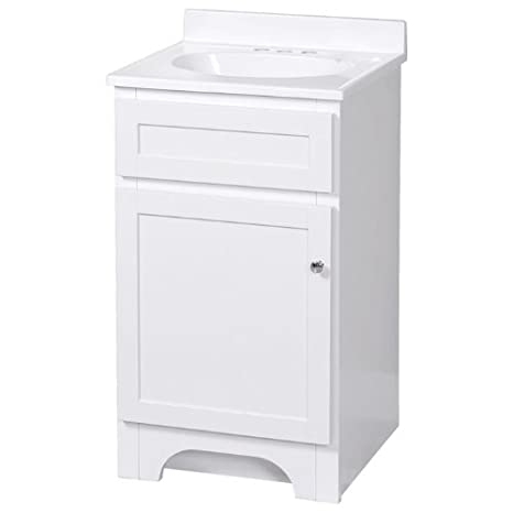 Foremost Cowat1816 Columbia 18 Inch White Vanity With Marble Top