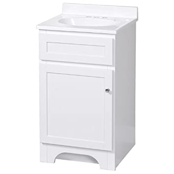 foremost inch white vanity marble top 18 deep base sink combo home depot depth