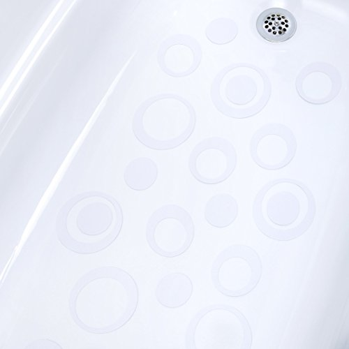 SlipX Solutions Adhesive Oval Safety Treads Add Non-Slip Traction to Tubs, Showers & Other Slippery Spots - Design Your Own Pattern! (21 Count, Reliable Grip, - Bathtub Shape