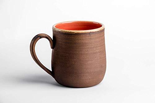 Red pottery mug handmade Ceramic mug Coffee mug Rustic coffee mug Tea mug pottery coffee mug