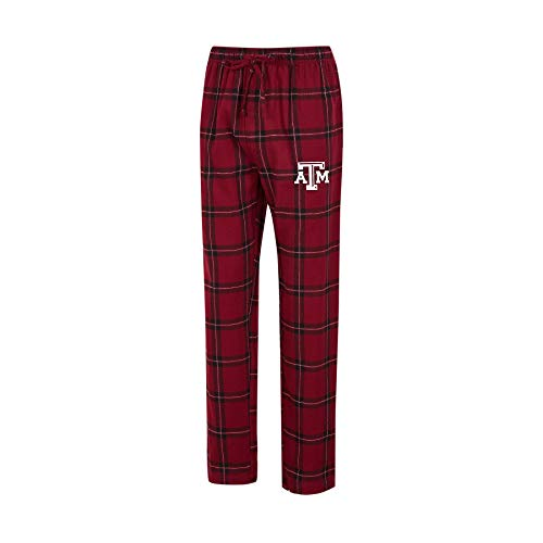 College Pant - Concepts Sport Men's NCAA-Homestretch-Plaid Sleepwear Pajama Pants-with Pockets (Texas A&M Aggies, Large)