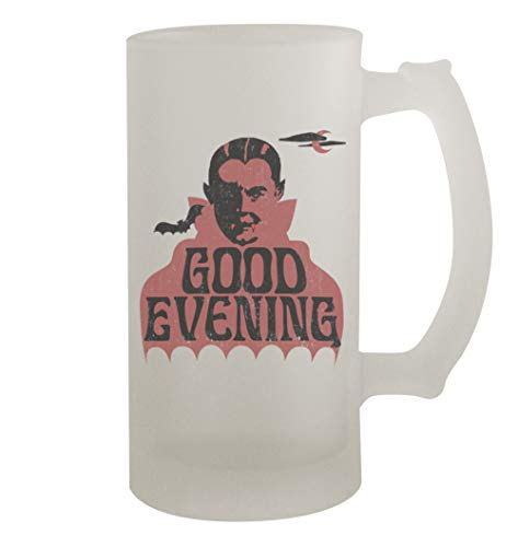 Good Evening Dracula Retro #339 - Funny Humor 16oz Frosted Glass Beer Stein