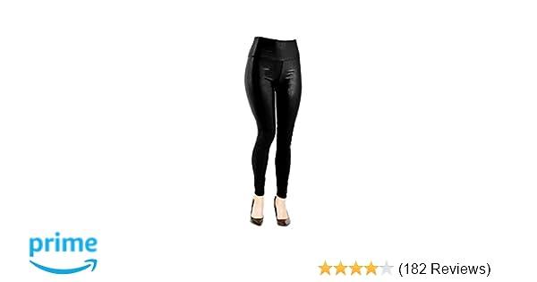 e1b106aff94fe VenusDesigns Women High Waist Matte Faux Leather Legging-XL-Snakeskin at  Amazon Women's Clothing store:
