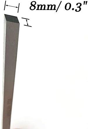 1 pezzo /– 200 x 4 x 4 mm POWERTOOL argento Utensile per tornio in acciaio HSS con codolo quadrato per la lavorazione dei metalli