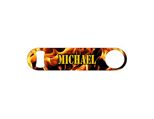 Fireman's Fire/Flame Personalized Groomsmen Wedding Gift Bot
