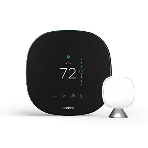 (ecobee SmartThermostat with Voice Control, Black)
