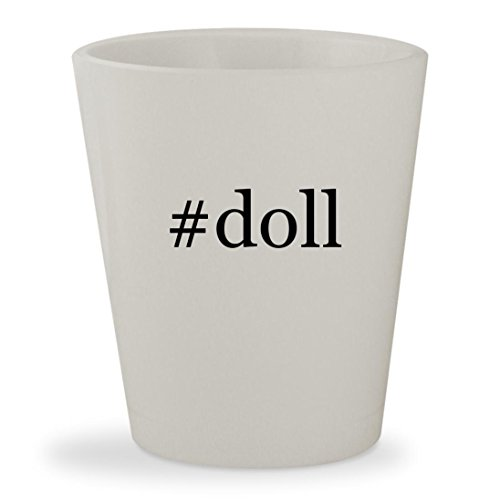 #doll - White Hashtag Ceramic 1.5oz Shot Glass - Farrah Fawcett Doll