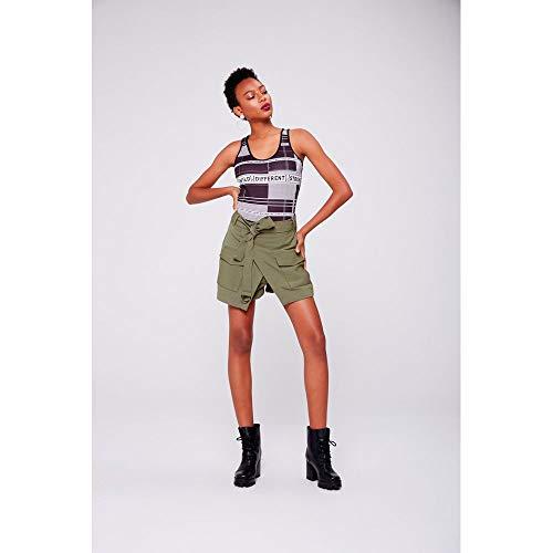 Mini Shorts Saia Tam: 40 / Cor: Verde Militar