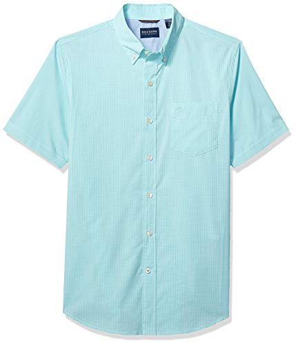 Dockers Men's Short Sleeve Button Down Comfort Flex Shirt, Micro Check, ()