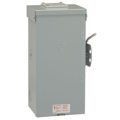 (GE TC10323R 3 Wire 2 Pole Non-Fusible Emergency Power Transfer Switch 240 Volt AC 100 Amp NEMA 3R Spec-Setter™)