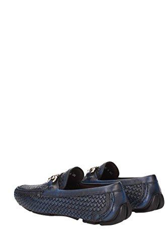 Loafers Salvatore Ferragamo Men - Leather (PARIGI06329) UK Blue oqyR09hCVo