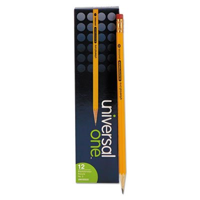 Blackstonian Pencil, F #2.5, Medium Firm, Yellow, Dozen, Sold as 2 (2.5 Medium Firm Lead)