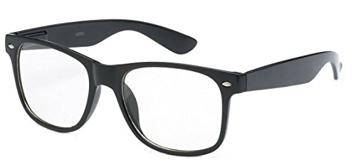 [WebDeals - Childrens Kids Nerd Clear Lens Eye Glasses Non Prescription Ages 3 to 9] (Ralphie Glasses For Costume)