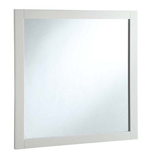 Design House 547224 30-Inch By 30-Inch Vanity Mirror, Semi-Gloss White, (Satin White Mirror)