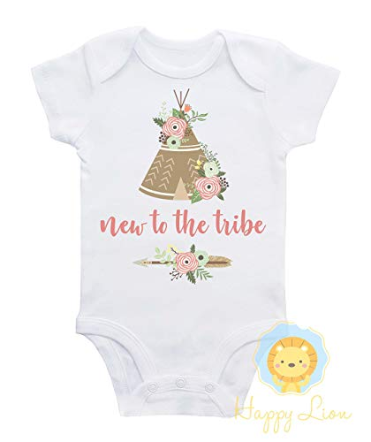 16288315f4d1 Amazon.com  Happy Lion Clothing - New to the tribe baby shirt