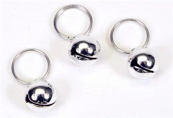 MUNAN Round Dog Bells 1/2-Inch Silver 3-Pcs