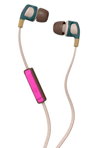 1461ba46063 Skullcandy Smokin Bud2 SCS2PGJY-537 in-Ear Headphones with Mic (Mustard/Pink