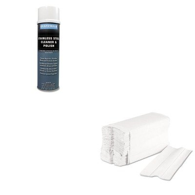 KITBWK347ACTBWK6220 - Value Kit - Boardwalk Stainless Steel Cleaner amp; Polish (BWK347ACT) and Boardwalk 6220 Centerpull Paper Towels (BWK6220)