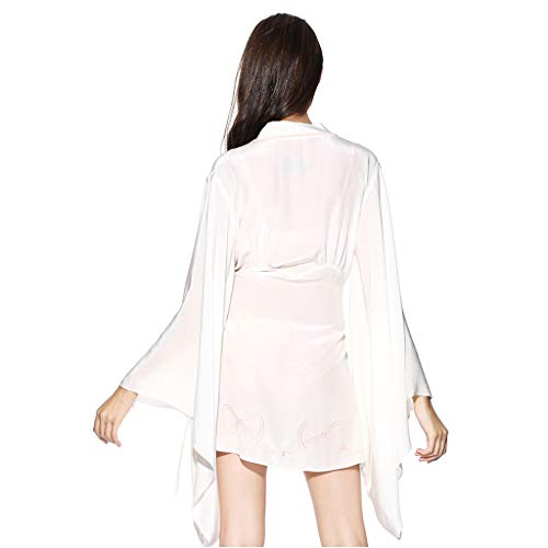 Mañana Párrafo Mujer Fino Size Camisón Albornoz Verano M Pijamas Blanco Blanco color Sexy Corto Hanfu a8qYtaRw