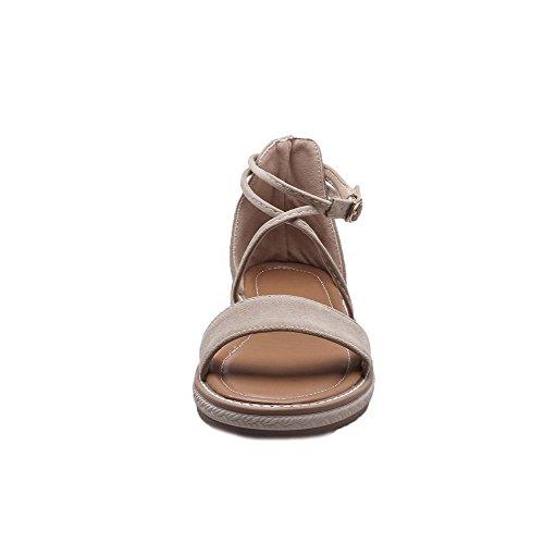 Sandalias Mujeres Mini gmxlb008809 Agoolar Tacón Sólido Puntera Vestir De Abierta Albaricoque dZFTSwYq
