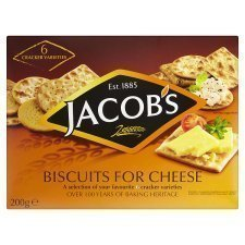 Jacobs Biscuits For Cheese 200g by Jacob's (Cheese Best Biscuits)
