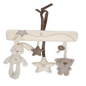 Newborn Infant Baby Pram Bed Bells Soft Hanging Toys Handbells Rattles J