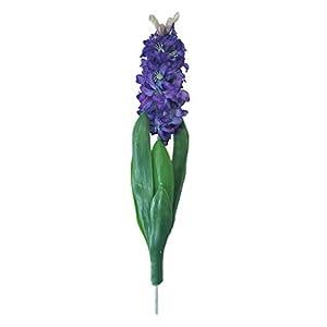 Lily Garden Artificial Hyacinthus Orientalis Hyacinth Silk Flowers Desktop Decoration (Purple) 64