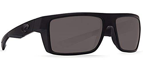 Lens Plastic Gray (Costa Del Mar Motu Sunglasses, Blackout, Gray 580 Plastic Lens)