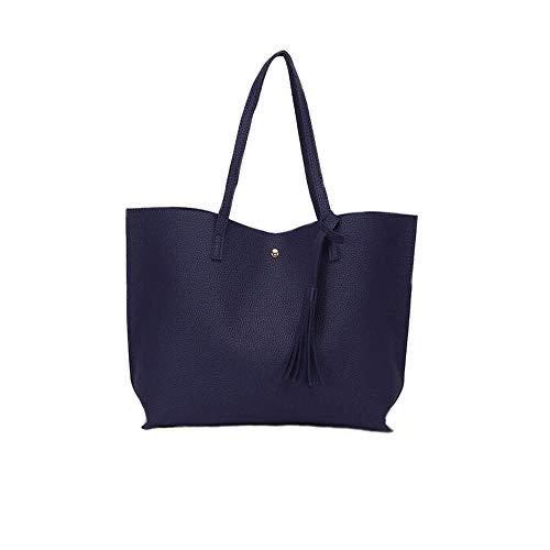 - Jeniulet Tote Bag for Womens Purses Women Leather Handbags Satchel Shoulder Bags with Zipper for Ladies (Darkblue)