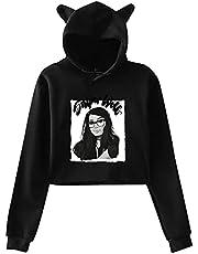 FKDBLZY SSS-Niper-Wo-Lf Merch Girls Women's Cat Ear Sweater for Children Teen Fans Customization Cute Cropped Hoodie