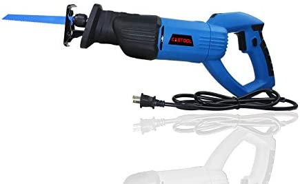 Professional Reciprocating Saw, 120V 7.5Amp 13 16 Stroke Length, 0-3000 SPM Variable Speed and Trigger Switch with 2 Saw Blades for Wood and Metal Cutting