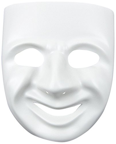 Greek Theatre Comedy Costumes - MaskIt 1 Piece Comedy Mask with