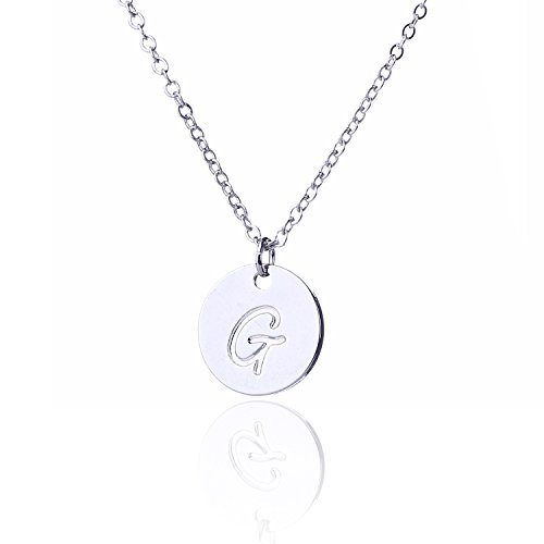 AOLO Best Friend Forever Necklace Initial Necklace G
