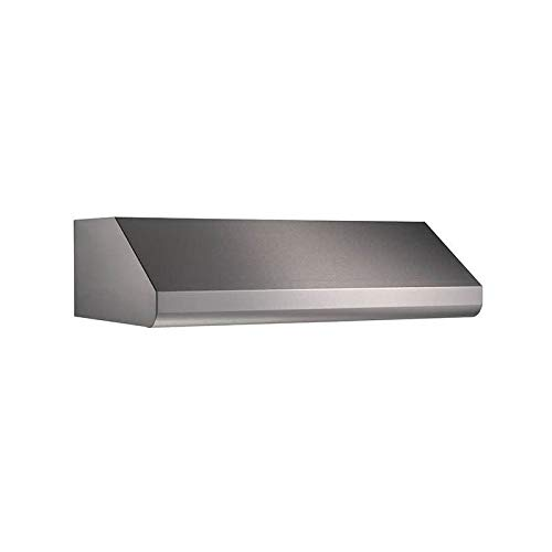 Broan Elite E6448TSS Under-Cabinet Canopy Range Hood with Internal Blower Variable Speed Control and Convertible to Recirculating: 48 in. Width 1200 CFM in Stainless