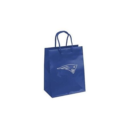 - Pro Specialties Group NFL New England Patriots Gift Bag, Navy/Silver, One Size