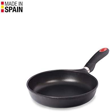 Valira 4538/25 Poêle Premium de 24 cm fabriqué en Espagne, en Fonte d'aluminium avec Anti-adhérent écologique renforcé, apte pour l'induction, Noir