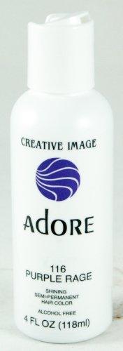 Adore -Creative Image Semi-Permanent Hair Color #116 Purple Rage, 4 oz
