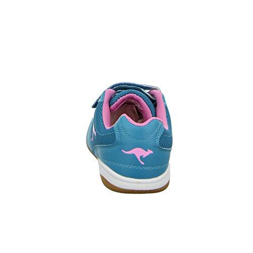 KangaROOS Kangayard 3020B - Zapatillas para deportes de interior de Material Sintético para mujer Azul - azul