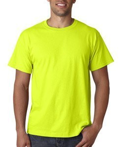 Fruit of the Loom Men's Short Sleeve Crew Tee, Large  - Safety Green ()