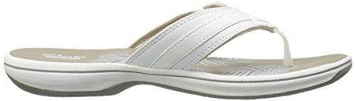 CLARKS Women's Breeze Sea Flip Flop, New White Synthetic, 9 M US by CLARKS (Image #12)