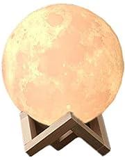 Moon Lamp, 16 kleuren 3D maan licht met standaard, Touch & Afstandsbediening Maanlicht Lamp, Thuis Nachtlampje met USB opladen, Verjaardagsfeestcadeaus, Cool Nursery Decor voor Uw Baby Kids (5.9 inch/15cm)