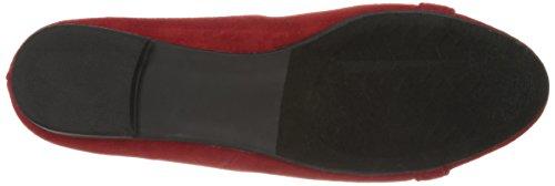 Annie Zapatos Mujeres Erin Calf Panty Ancho Plano Rojo