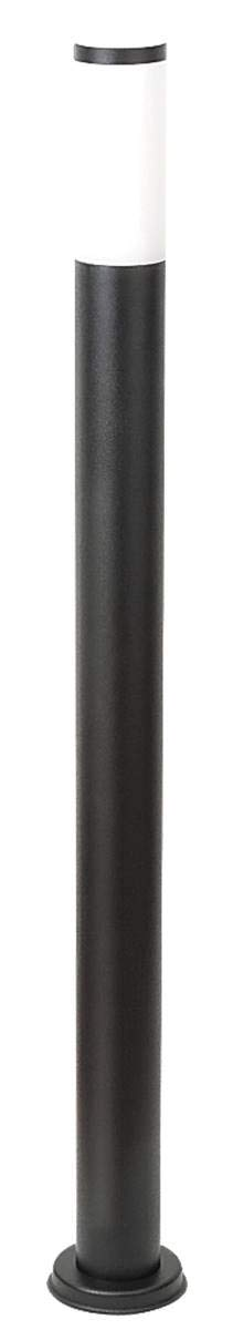 Außenleuchte Stehleuchte schwarz torch aus Edelstahl Kunststoff matt schwarz Ø7,3cm H 110cm funktioniert nur mit energiesparendem Leuchtmittel IP44