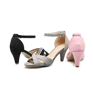 LvYuan Tacón Stiletto-Zapatos del club-Sandalias-Vestido Informal Fiesta y Noche-Semicuero-Negro Rosa Gris Melocotón Pink