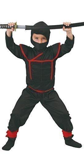 Fancy Me Niños Ninja Warrior Negro/Rojo samurái Libro día ...
