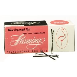 Flamingo Bobby Pins - Black 1 lb.